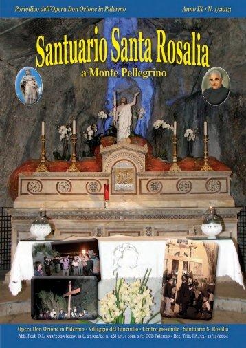 Rivista n. 1 – Marzo 2013 (Pasqua) - Santuario di Santa Rosalia