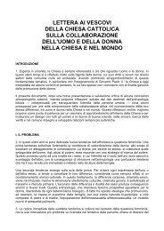 lettera ai vescovi della chiesa cattolica sulla collaborazione dell ...