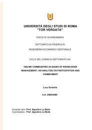 università degli studi di roma - DSpace - Tor Vergata - Università ...