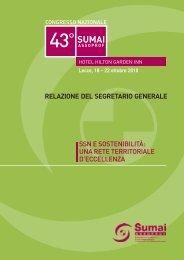 La Relazione del Segretario Generale dott. Roberto Lala - SUMAI ...