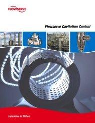 Flowserve Cavitation Control Brochure - Flowserve Corporation