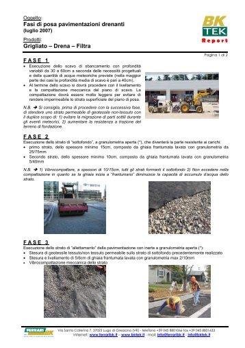 Fasi di posa pavimentazioni drenanti Grigliato – Drena ... - Infobuild