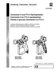 310748F Contractor II and FTx II Gun, German ... - Graco - Graco Inc.
