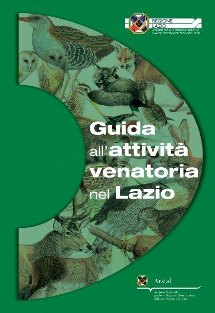 Guida all'attività venatoria nel Lazio - Agricoltura