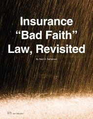 Insurance Bad Faith, Revisited - John Redmann: Power of Attorney