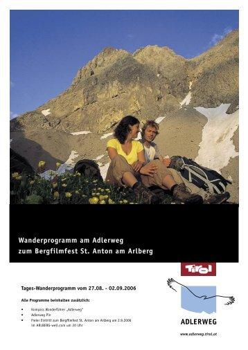 Informationsfolder Tiroler Adlerweg - Kitzbüheler Alpen