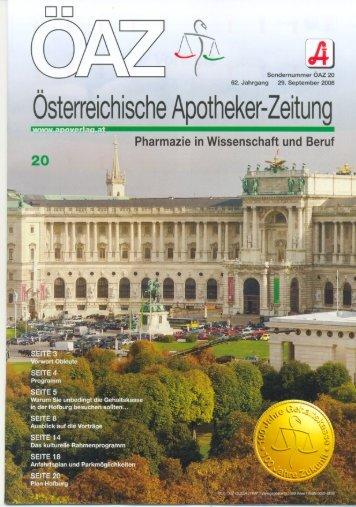ÖAZ 20-2008.pdf - Österreichische Apothekerkammer
