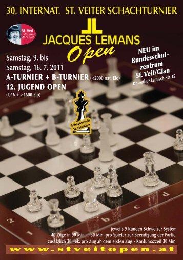 30. internat. st. veiter schachturnier - Internationales St.Veit Open