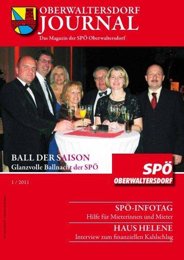 Oberwaltersdorf Journal 1/2011 - Zum Download hier klicken.