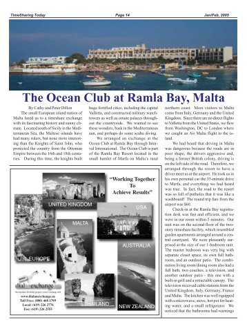 The Ocean Club at Ramla Bay, Malta - Timesharing Today