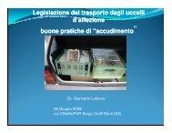 Legislazione del trasporto - Associazione Ornitologica Forestale