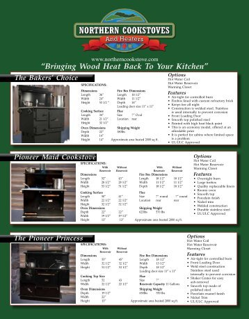 suppertime stoves brochure - Wood Burning, Airtight Cook Stoves ...
