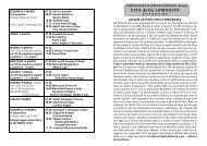 VITA della COMUNITA' - parrocchia ss. gervasio e protasio - bariano