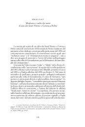 Medioevo e culto dei santi: il caso dei Santi Vittore e Corona a Feltre