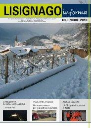 DICEMBRE 2010 - Comune di Lisignago