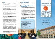 scarica il depliant ISSR in pdf - Studio Teologico Interdiocesano e ...