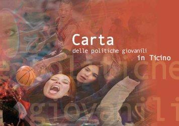 Carta delle politiche giovanili in Ticino - Repubblica e Cantone Ticino