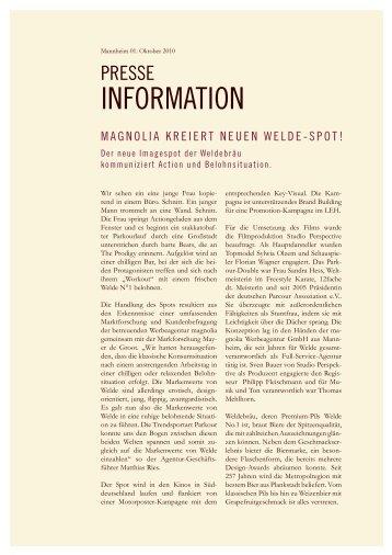 INFORMATION - Magnolia Werbeagentur