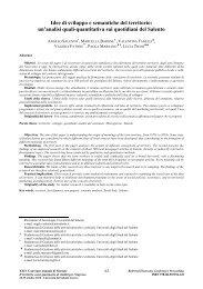 Idee di sviluppo e semantiche del territorio - Sinergiejournal.It