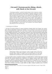 Giovanni Crisostomo: parola, dialogo, silenzio nelle - Roberto Osculati