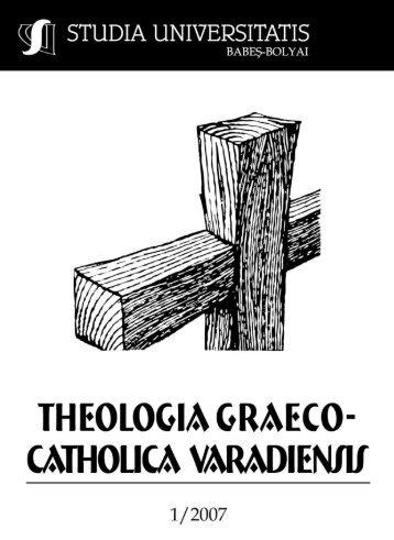 studia universitatis babeş – bolyai theologia graeco - catholica ...