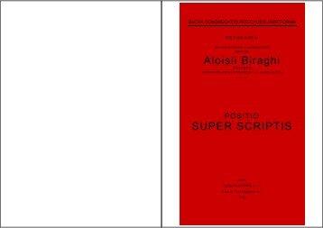 Aloisii Biraghi SUPER SCRIPTIS - Suore Marcelline