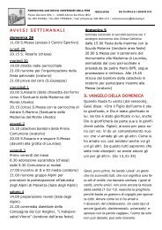 Settimana dal 28 aprile al 5 maggio 2013 - Adrara San Rocco