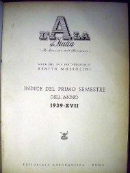 INDICE DEL PRIMO SEMESTRE DELL'ANNO - AVIA