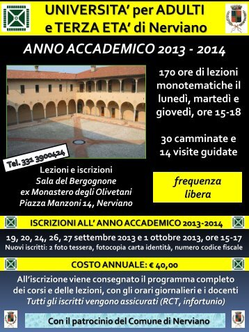 programma anno 2013-2014 - Università per Adulti e Terza Età ...
