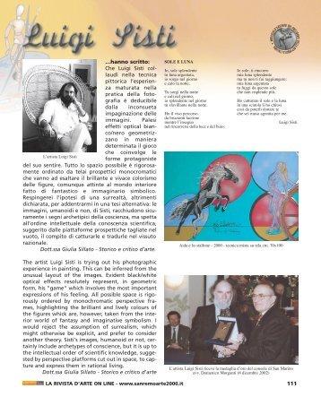 Sanremo Arte 2000 anno IX n° 15/16 - Luigi Santo Sisti