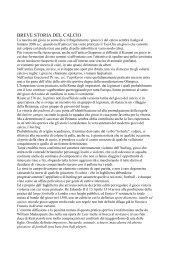 BREVE STORIA DEL CALCIO - Real Mantegazza