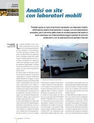 Analisi on site con laboratori mobili Theolab opera su tutto il ...