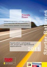 Catalogue des applications vl, pl et engins