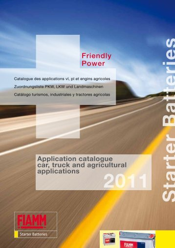 Catalogue des applications vl, pl et engins