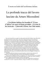 morto un leader dell'architettura italiana, Enrico ... - Il corno d'Africa