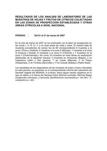 INFO- MAR- 2007 - Senasa