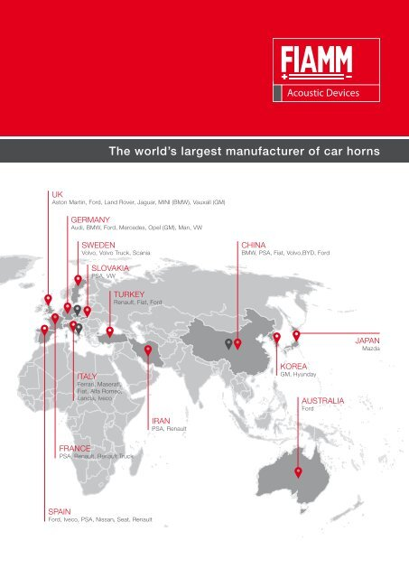 The world's largest manufacturer of car horns