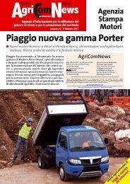 Piaggio nuova gamma Porter Mercedes, ecco la ... - Agricomnews.it