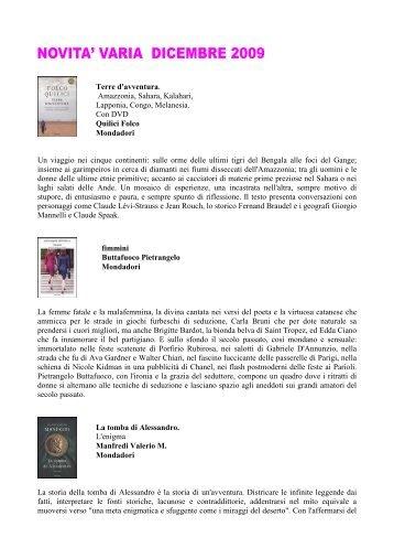 Dicembre 2009 - Varia.pdf - Comune di Trebaseleghe