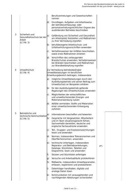 zur Verfahrensmechanikerin für Beschichtungstechnik - Gesetze im ...