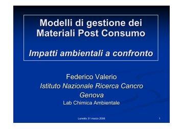 Presentazione del Prof. Federico Valerio - Nuova Stagione