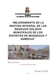 Perfil de Proyecto de Inversión Pública - Ministerio del Ambiente