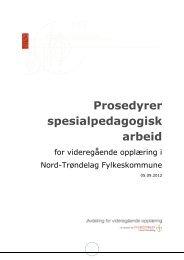 Prosedyrer spesialpedagogisk arbeid - Nord-Trøndelag ...