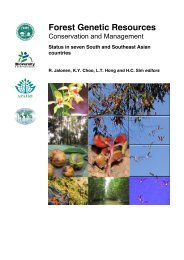 Forest genetic resources conservation and management - Bioversity ...