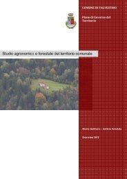 Studio agronomico e forestale del territorio comunale - Comune di ...