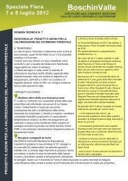 progetti e azioni per la valorizzazione del patrimonio forestale