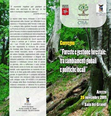"""""""Foreste e gestione forestale: tra cambiamenti globali e ... - Intoscana.it"""