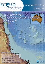 see ECORD Newsletter #13 - European Consortium for Ocean ...