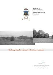 Studio agronomico e forestale del territorio comunale