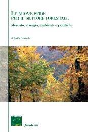 Le nuove sfide per il settore forestale - Gruppo 2013